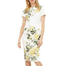 Buy Phase Eight Nika Dress, Cream Online at johnlewis.com