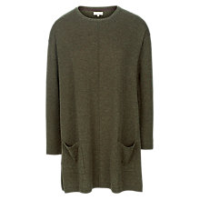 Buy Fat Face Suzie Swing Longline Jumper, Forest Green Online at johnlewis.com