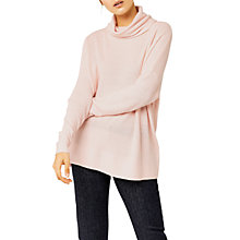 Buy Warehouse Boxy Cowl Neck Ribbed Jumper Online at johnlewis.com
