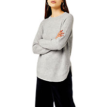 Buy Warehouse Basket Stitch Jumper, Light Grey Online at johnlewis.com