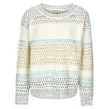 Buy Fat Face Sally Stripe Jumper, Multi Online at johnlewis.com