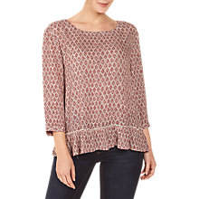 Buy Fat Face Erin Country Blouse, Red/Multi Online at johnlewis.com