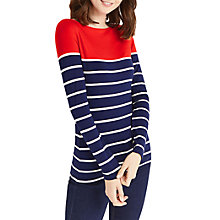 Buy Oasis Pop Breton Stripe Jumper, Multi Online at johnlewis.com