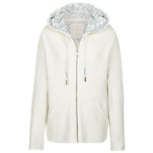 Buy Fat Face Hemsby Textured Hoodie, Ivory Online at johnlewis.com