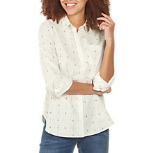 Buy Fat Face Olivia Daisy Ditsy Shirt, Ivory Online at johnlewis.com