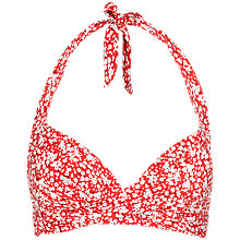 Buy Fat Face Meadow Floral Carrie Bikini Top, Coral Online at johnlewis.com