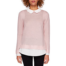 Buy Ted Baker Bronwen Scallop Collar Jumper, Pale Pink Online at johnlewis.com