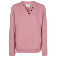 Buy Fat Face Hayle Notch Crew Neck Jumper, Sweetpea Online at johnlewis.com