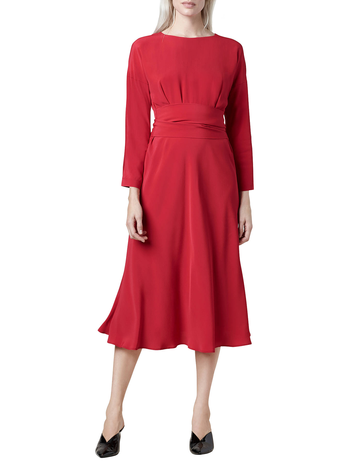 BuyFinery Freda Shift Dress, Red, 8 Online at johnlewis.com