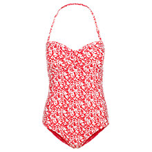 Buy Fat Face Meadow Floral Print Swimsuit, Coral/Multi Online at johnlewis.com