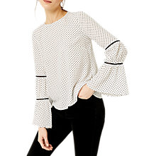 Buy Warehouse Dobby Lace Insert Top Online at johnlewis.com