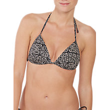 Buy Fat Face Sea Star Moulded Bikini Top, Phantom Online at johnlewis.com