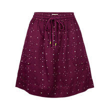 Buy Fat Face Clara Daisy Ditsy Skirt, Raisin Online at johnlewis.com