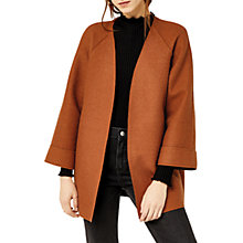 Buy Warehouse Short Bonded Swing Coat, Tan Online at johnlewis.com
