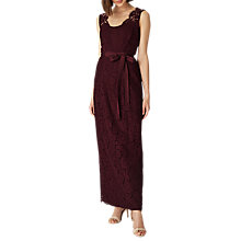Buy Phase Eight Amy Lace Maxi Dress, Red Berry Online at johnlewis.com