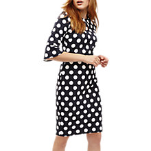 Buy Phase Eight Katlyn Three Quarter Sleeve Spot Dress, Navy/Ivory Online at johnlewis.com