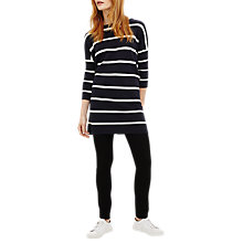 Buy Phase Eight Tiberia Ripple Stitch Stripe Tunic Dress, Navy/White Online at johnlewis.com