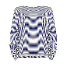 Buy Phase Eight Libby Stripe Blouse, Bluebell/Ivory Online at johnlewis.com