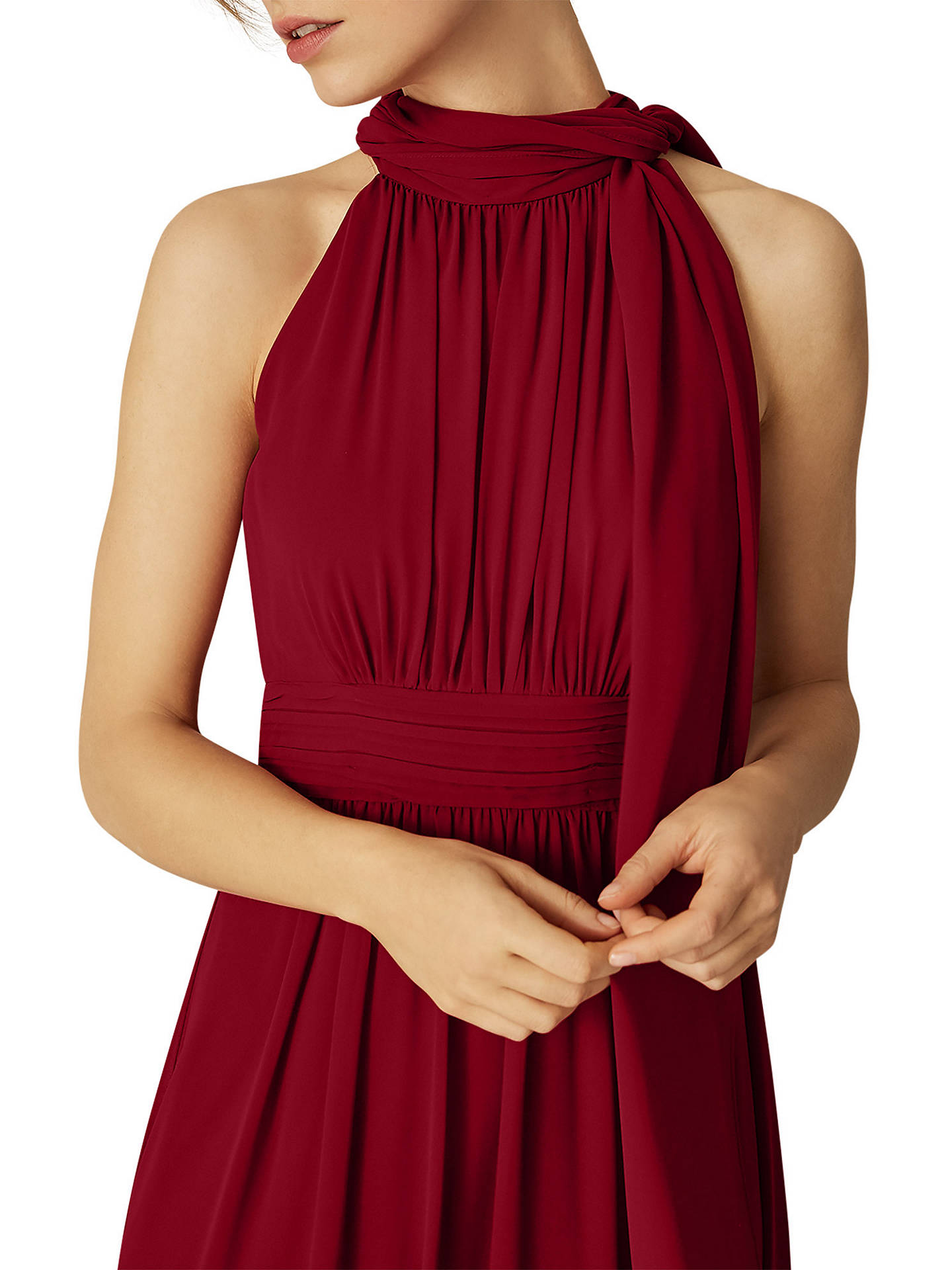BuyPhase Eight Roxi Halterneck Maxi Dress, Scarlet, 8 Online at johnlewis.com