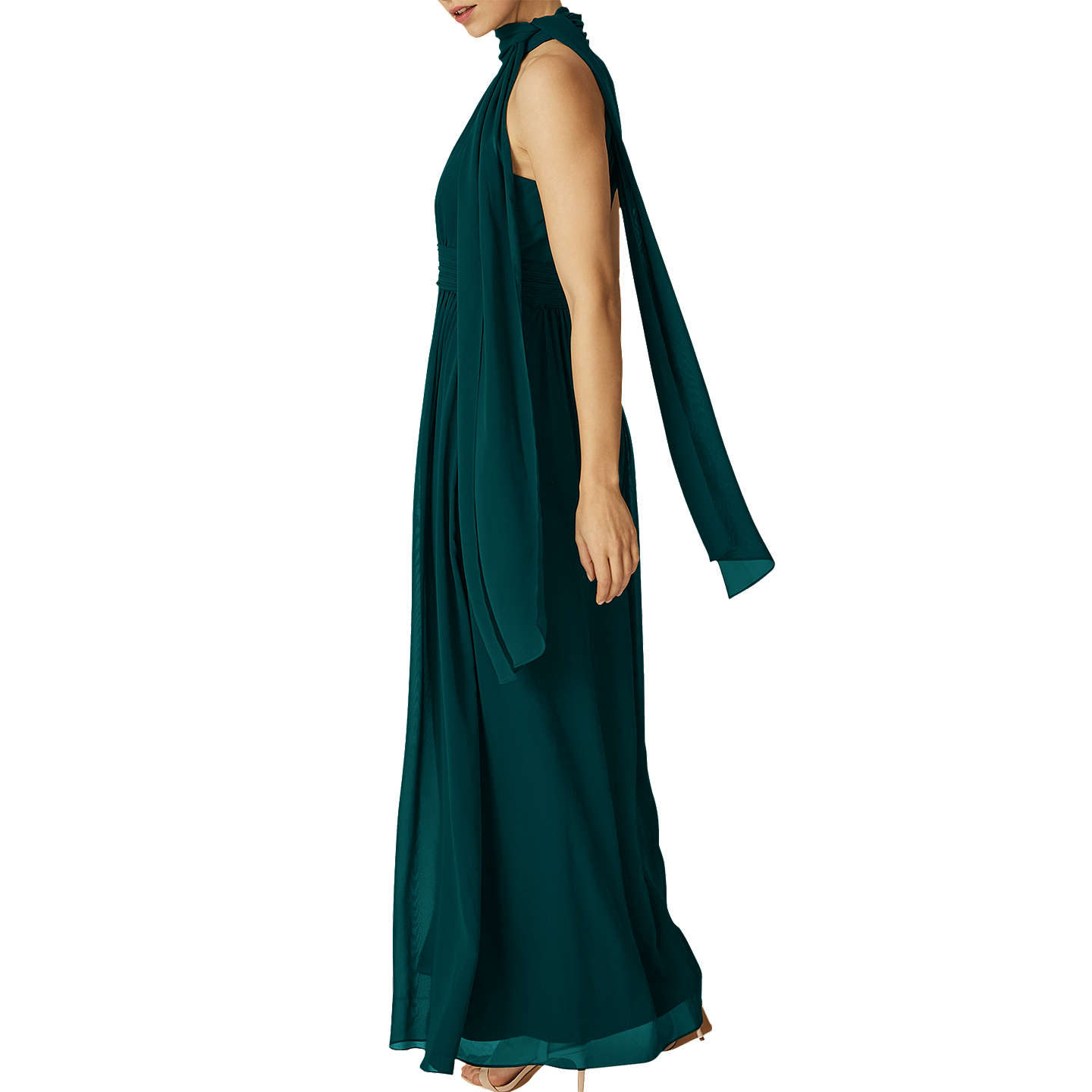 BuyPhase Eight Roxi Halterneck Maxi Dress, Emerald, 6 Online at johnlewis.com