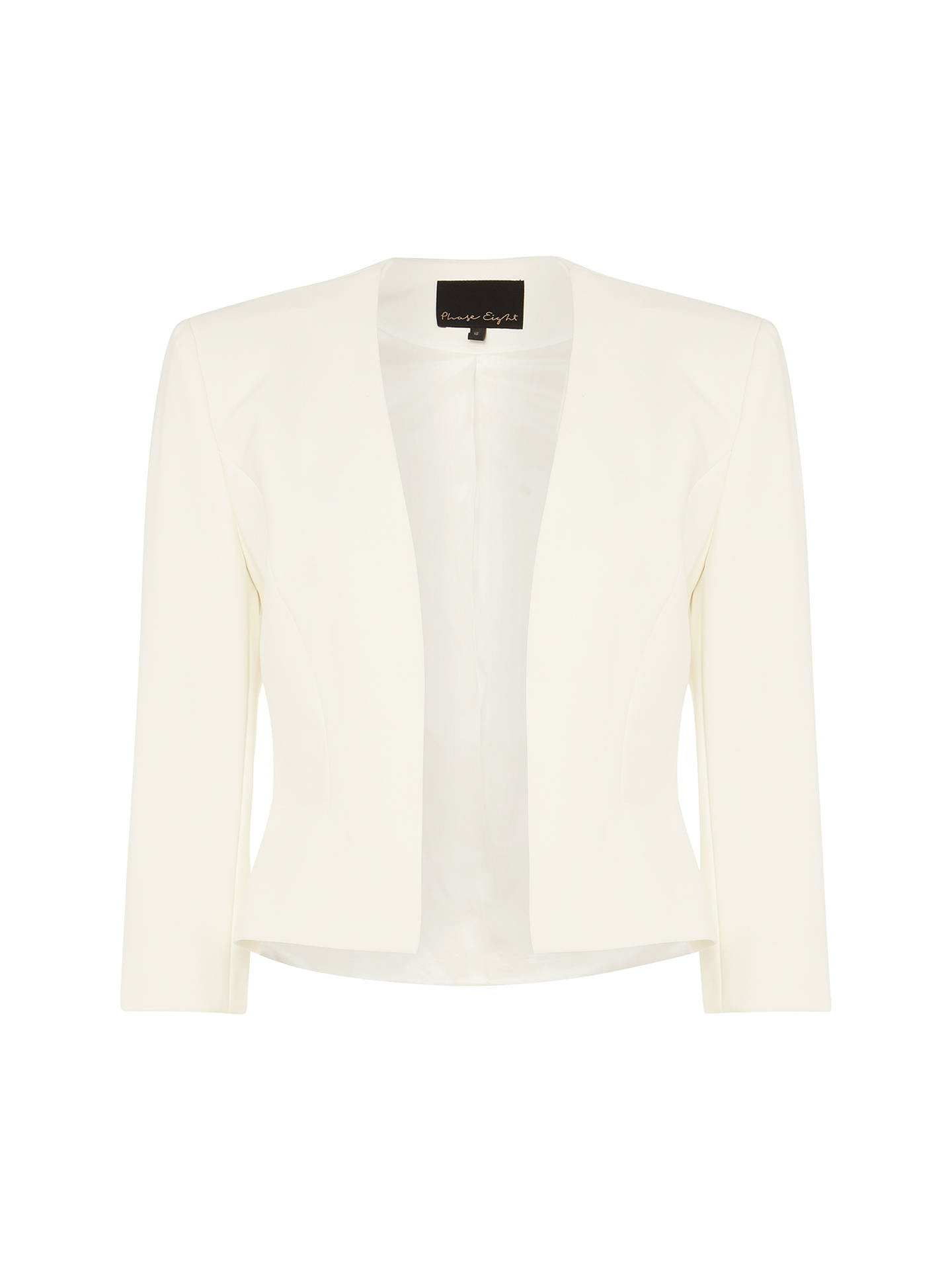 Buy Phase Eight Tally Jacket, Cream, 6 Online at johnlewis.com