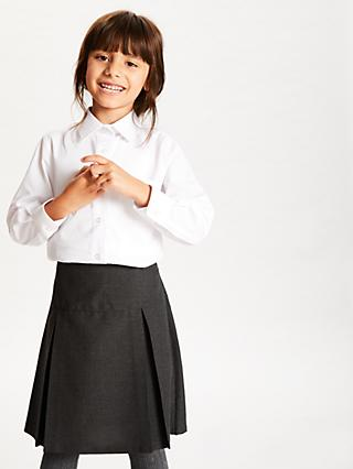 e791597ca06 John Lewis   Partners The Basics Girls  Long Sleeve School Blouse