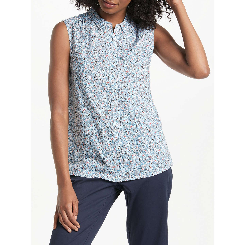 John Lewis Floral Sleeveless Shirt, Multi