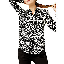 Buy Warehouse Leopard Print Shirt, Black Pattern Online at johnlewis.com
