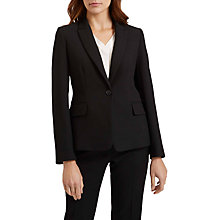 Buy Jaeger Slim Colette Tailored Jacket, Black Online at johnlewis.com