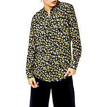 Buy Warehouse Mini Marigold Floral Print Shirt, Black Pattern Online at johnlewis.com