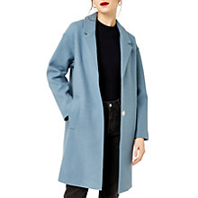 Buy Warehouse Knit Back Coat, Light Blue Online at johnlewis.com