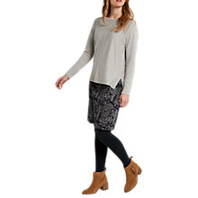 Buy White Stuff Lexi Jacquard Skirt, Grey Online at johnlewis.com