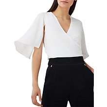 Buy Coast Nappa Wrap Top, Ivory Online at johnlewis.com
