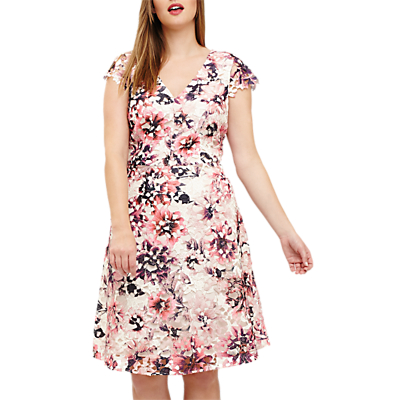 Studio 8 Joselyn Printed Lace Dress, Pink/Multi