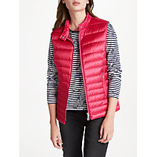 Buy Gerry Weber Padded Down Fill Gilet, Scarlet Online at johnlewis.com
