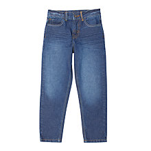 Buy John Lewis Boys' Core Straight Fit Jeans, Mid Wash Denim Online at johnlewis.com