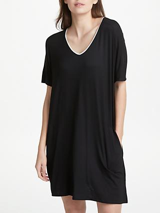DKNY Core Essential Short Sleeve Nightdress, Black