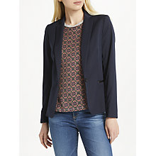 Buy Maison Scotch Single-Breasted Blazer, Night Navy Online at johnlewis.com