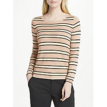Buy Maison Scotch Lurex Striped Jumper, Pink Online at johnlewis.com