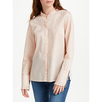 Maison Scotch Frill Collar Shirt, Desert Pink