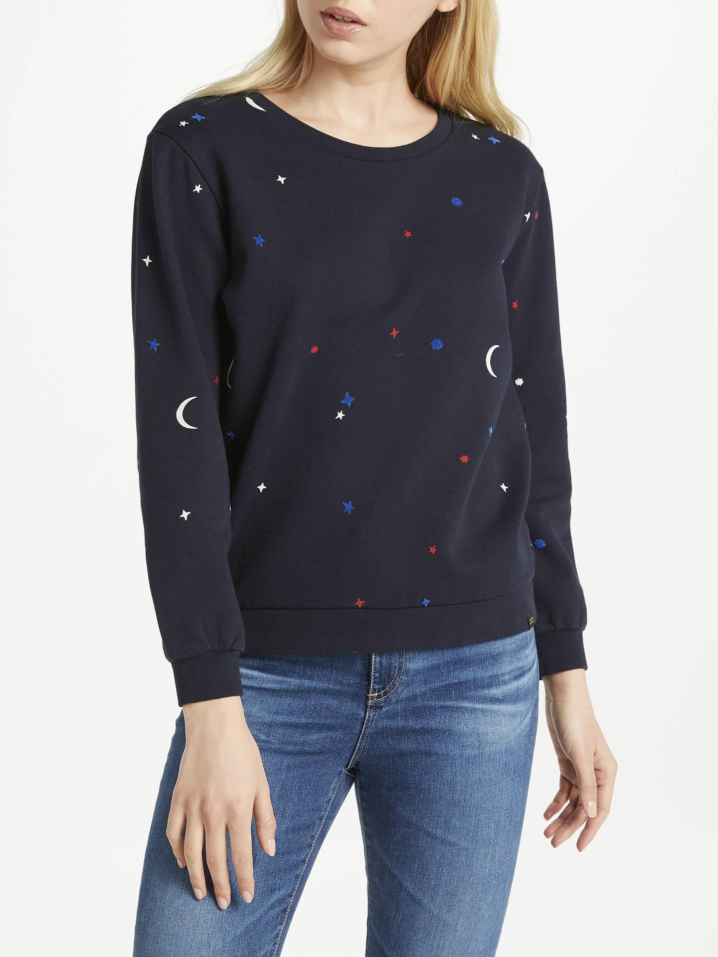 7cd75027d Maison Scotch Star Moon Print Sweater