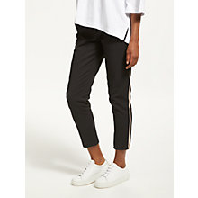 Buy Maison Scotch Tailored Side Tape Stretch Trousers, Black Online at johnlewis.com