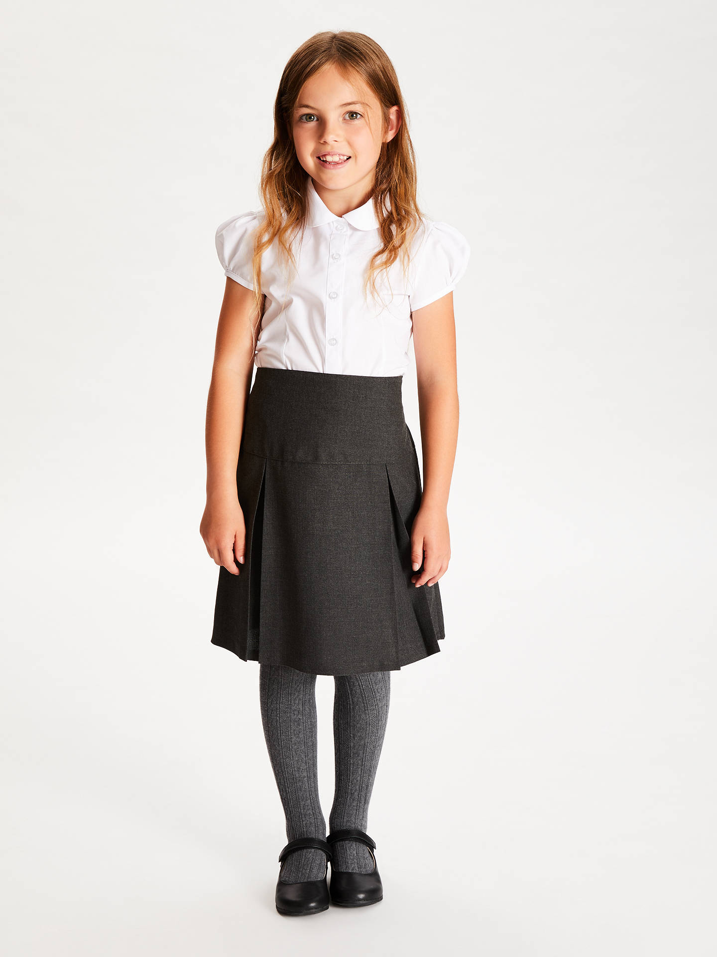 Buy John Lewis & Partners Girls' Easy Care Cap Sleeve School Blouse, Pack of 2, White, 7 years Online at johnlewis.com
