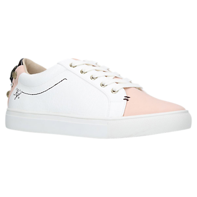 Kurt Geiger Ludo Lace Up Trainers, Nude