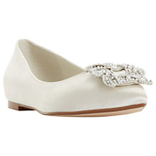 Buy Dune Bridal Collection Brielee Jewel Ballet Pumps, Ivory Online at johnlewis.com