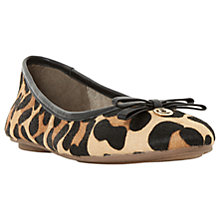 Buy Dune Harps Ballet Pumps, Leopard Leather on Hide Online at johnlewis.com