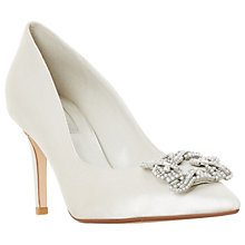 Buy Dune Bridal Collection Breaann Jewel Stiletto Court Shoes, Ivory Online at johnlewis.com
