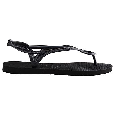 Havaianas Luna Flip Flops, Black