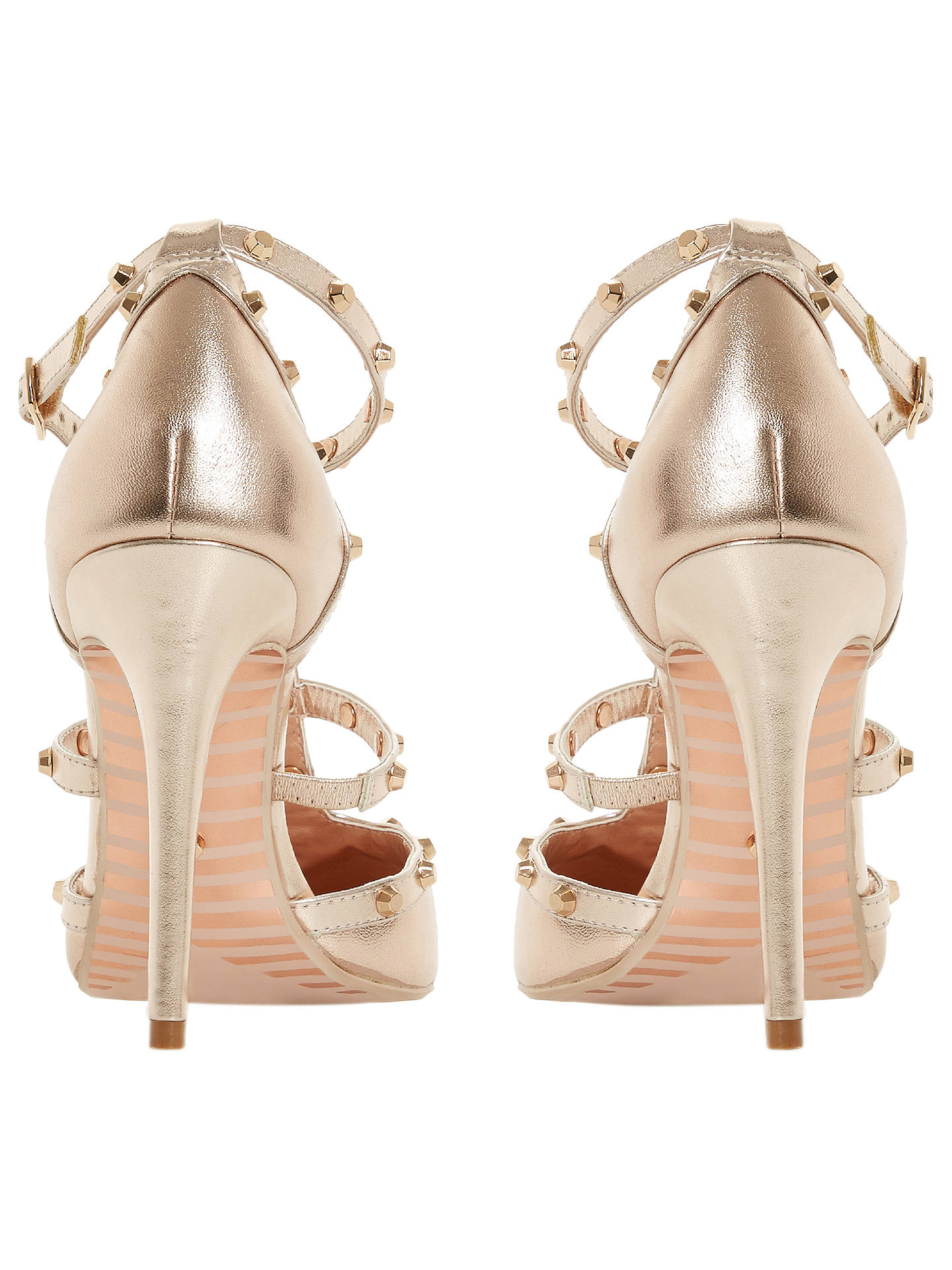 71a4d804 ... Buy Dune Daenerys Studded Cut Out Court Shoes, Rose Gold Leather, 3  Online at