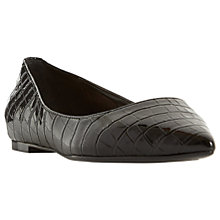 Buy Dune Aeron Pointed Ballet Pumps, Black Online at johnlewis.com